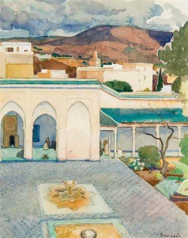 Peinture Maroc - Palais Lyautey von Jean Bouchaud