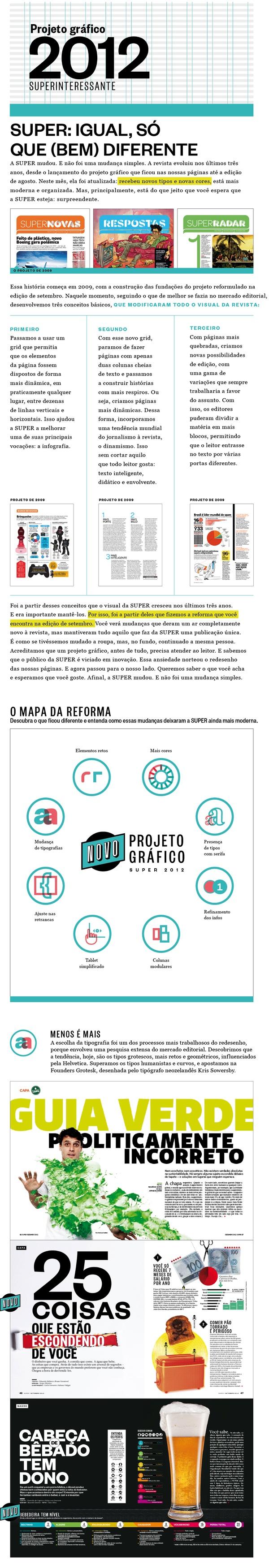 Projeto gráfico - Super 2012 by Jorge Oliveira, via Behance