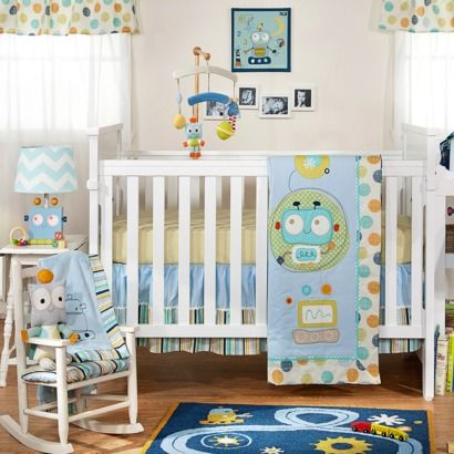 Lolli Living 4pc Crib Bedding Set - Baby Bot ...the perfect little baby boy bedding <3