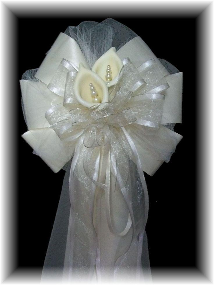 Calla Lilly Pew Bows Wedding Pinterest Red Wedding