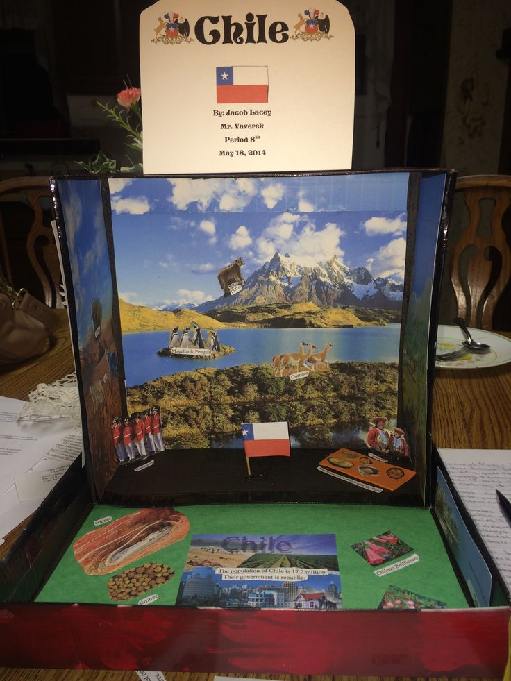 jacobs 7th grade project  country in a box  he had chile