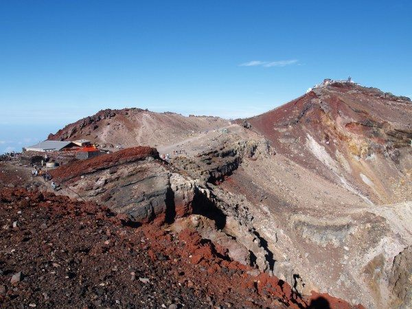 最高点の剣ヶ峰。御殿場口 |富士山登山ルートガイド。Mount Fuji climbing route guide