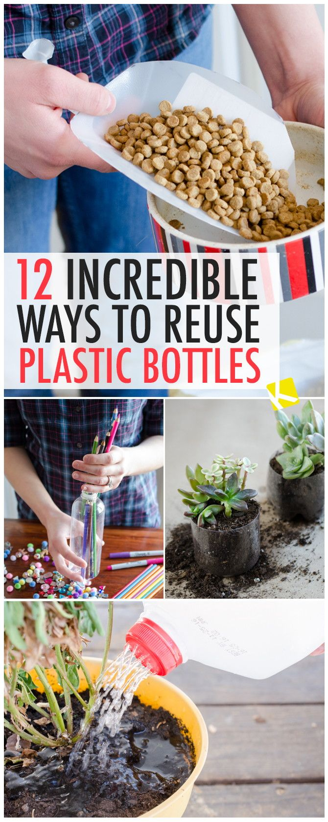 25 unique reuse plastic containers ideas on pinterest for Ways to reuse water bottles