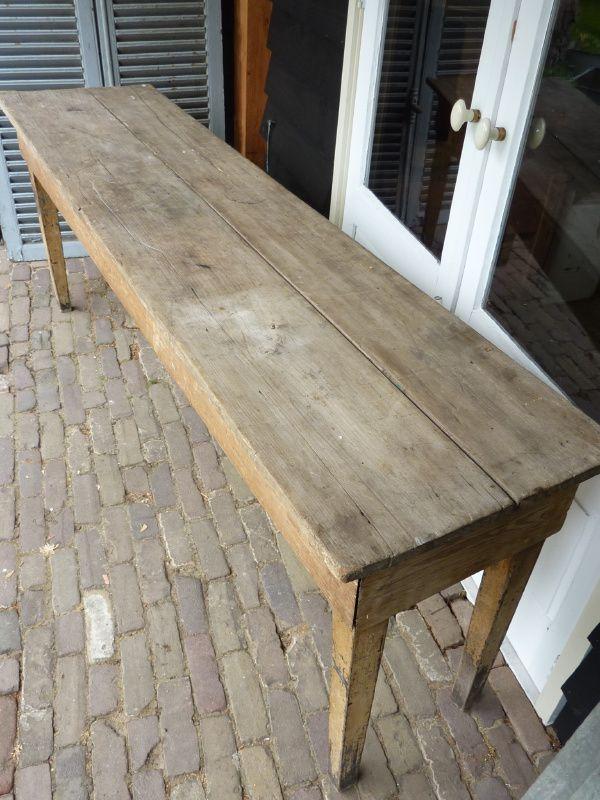 Prachtige grote sidetable, antieke tafel.