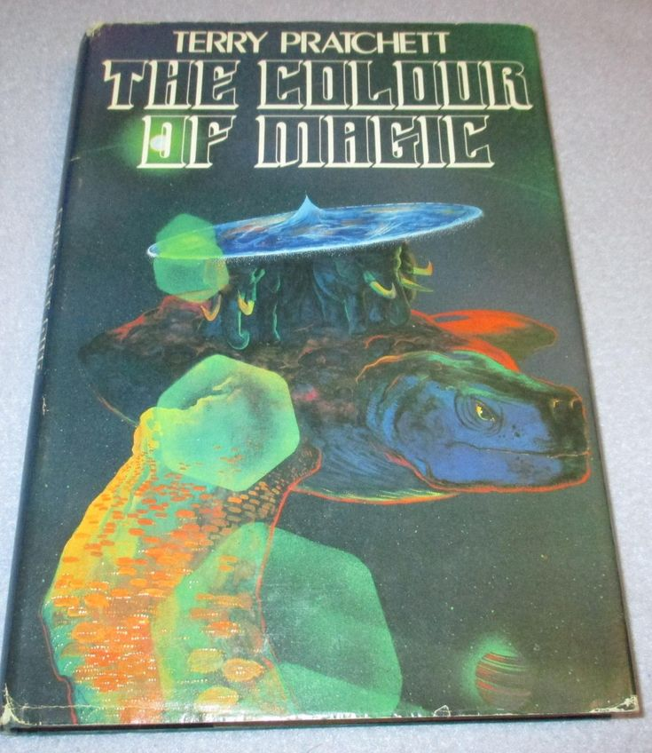 Image result for colour of magic science fiction book club dust jacket artist