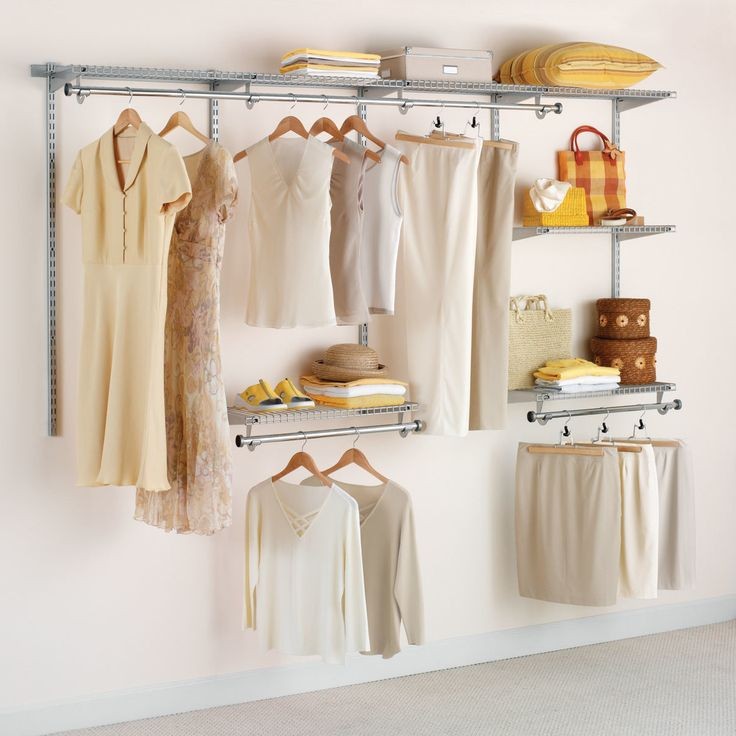 Configurations Custom Closet Kit   Titanium   Utilize Every Inch Of Closet  Space You Have With The Adjustable Rubbermaid Configurations Titanium Closet  Kit ...