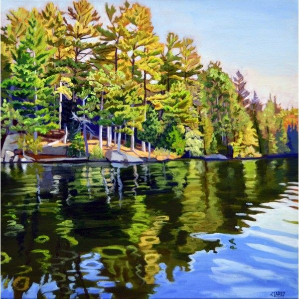 Opeongo Reflections by Anna Clarey, Acrylic on Canvas, Painting   Koyman Galleries
