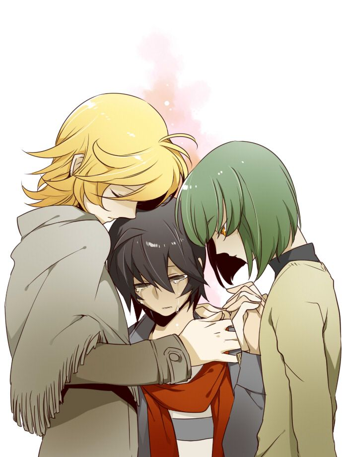 Personally, I think the shrine trio is the most tragic. Anybody want to have a friendly debate? Please? I really need to talk to someone about the emotional train wreck that is hatoful boyfriend