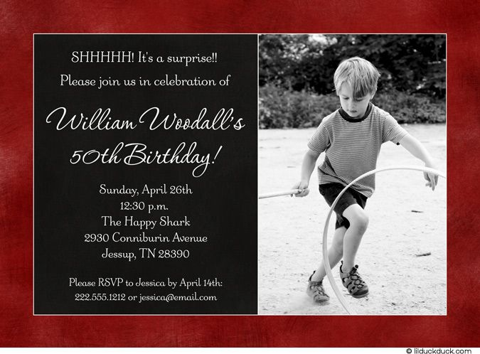 15 best surprise party invitations images on pinterest | surprise, Birthday invitations