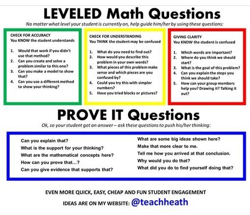 Question tool for getting kids to MATH TALK