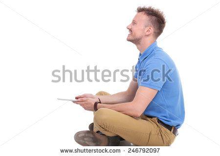Man Sitting Cross Legged Side View man sitting cross legg...