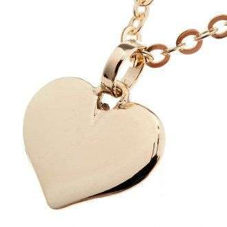 Heart necklace in 750/00 gold – 1,60 gr | online sales on HOLYART.co.uk