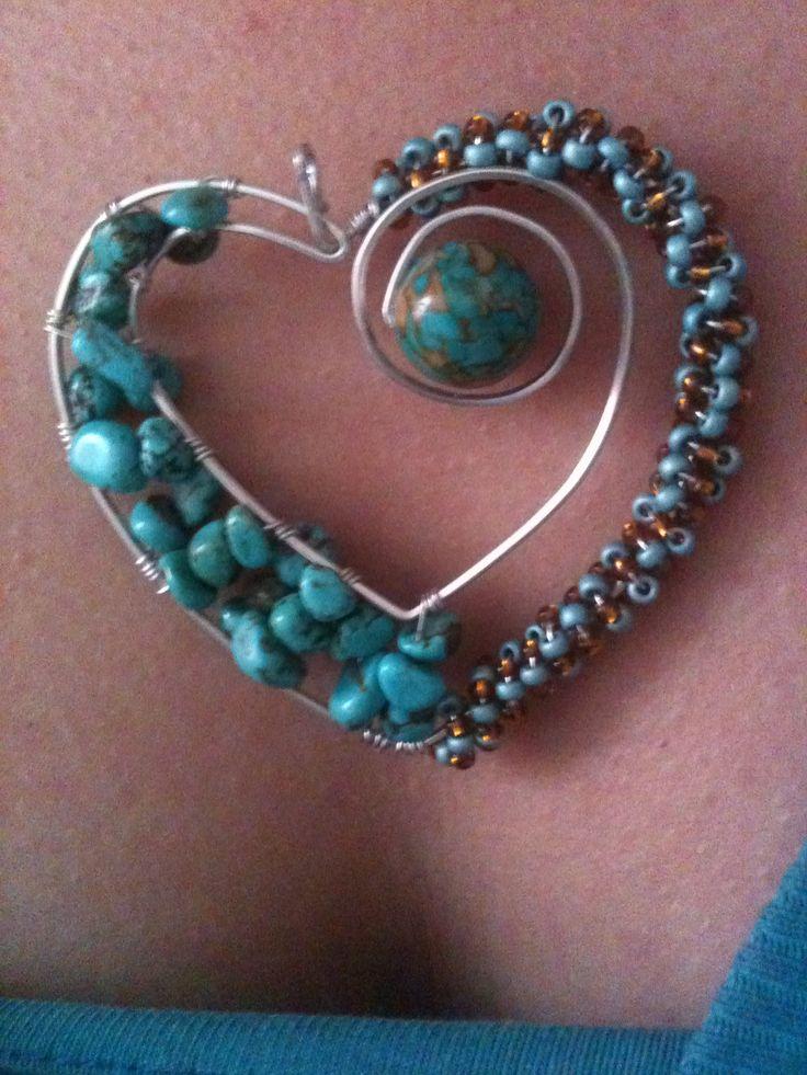 Dije, corazón, colgante, hawlitte, heart, jewelry