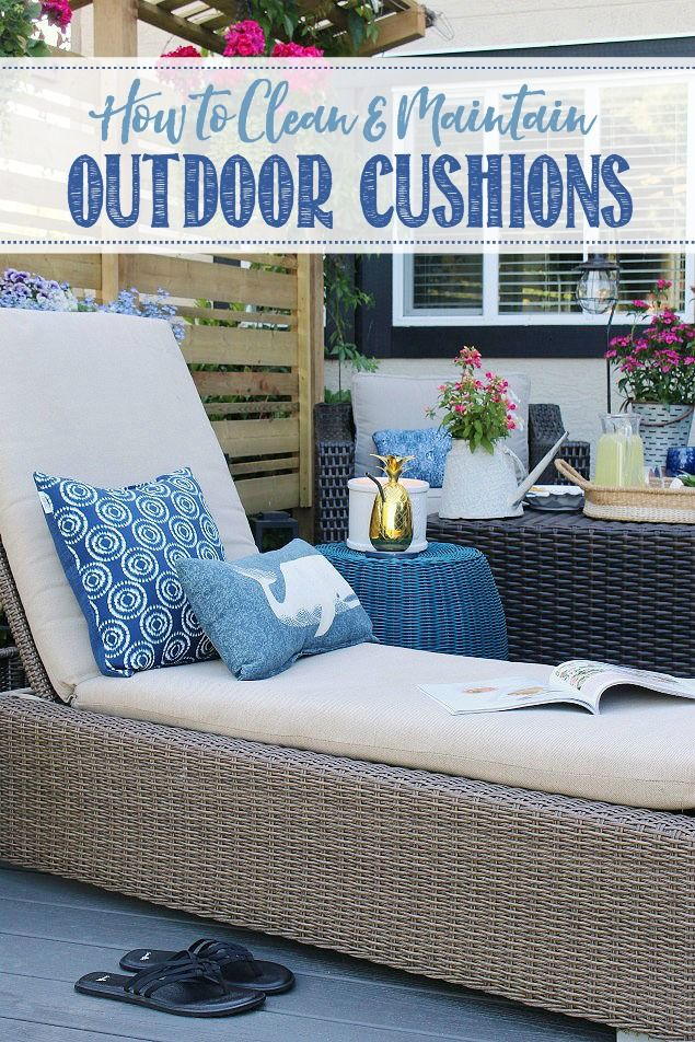How To Clean Outdoor Cushions Cleaning Outdoor Cushions Outdoor