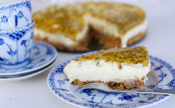 Krämig cheesecake med passionsfrukt | Jennys Matblogg | Bloglovin'