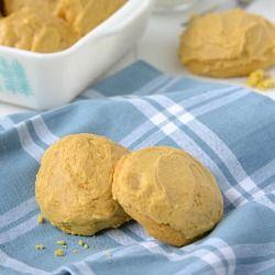 Pumpkin Spice Sugar Cookies with Pumpkin Buttercream Frosting-  Meet the fall version of a Lofthouse Sugar Cookie
