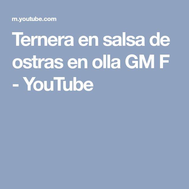 Ternera en salsa de ostras en olla GM F - YouTube