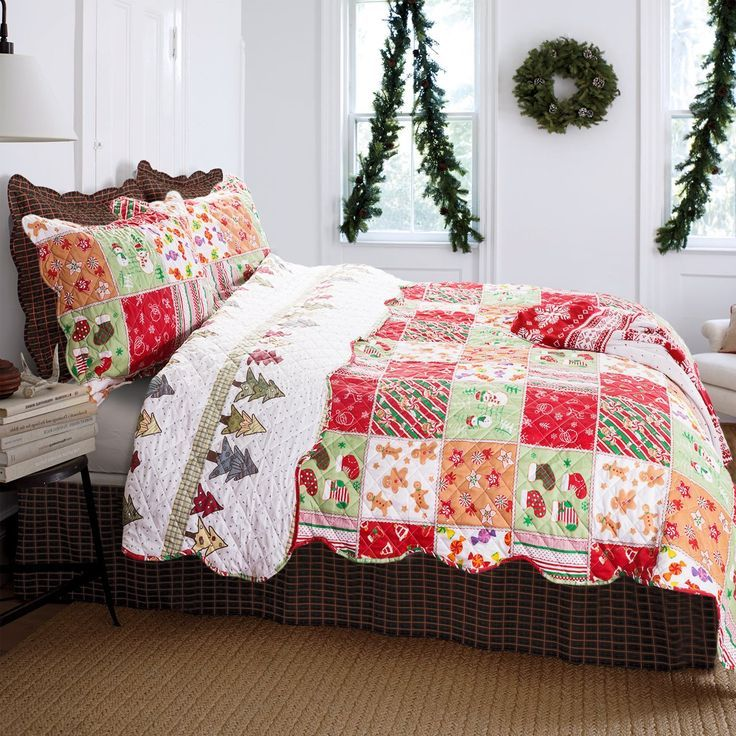 Christmas Bedding Christmas Bedding Bed Spreads Quilted Coverlet
