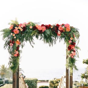 Beautiful Spring Summer Rose WEDDING Arch Inspiration