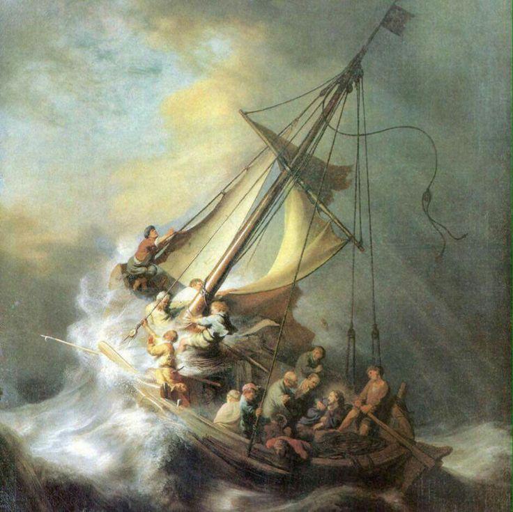 Cristo nella tempesta sul mare di Galilea, Rembrandt van Rijn, 1633, olio su tela, 160x128cm.