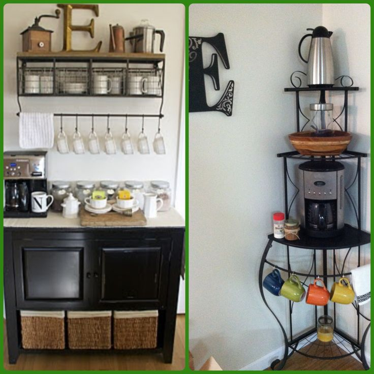 19 best coffee station bakers rack images on pinterest bakers rack coffee stations and. Black Bedroom Furniture Sets. Home Design Ideas