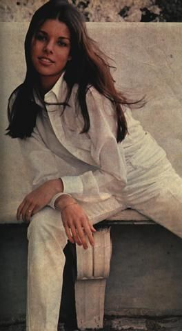 A young Princess Caroline loving classic clothes with timeless appeal...the white shirt & structured slacks...