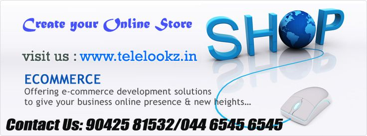 Get started with your E-Commerce Business!  Hand-make your E-commerce 'store'with us.  Customize the storefront to reflect your uniqueness.  Use our services to market and grow your business.  Share your tale with us so we can tell it to the world. Ask me how - contact 044-65456545/880 7575 880. email: ecommerceonlinestore@mstcs.net