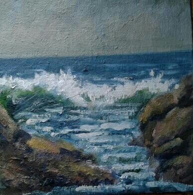 "More of donegal.oil on board.8""x10."