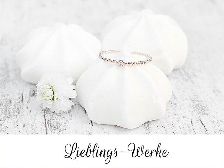 Ringe - Zart: Ring Silber rosévergoldet mit Zirkonia - ein Designerstück von Lieblings-Werke bei DaWanda