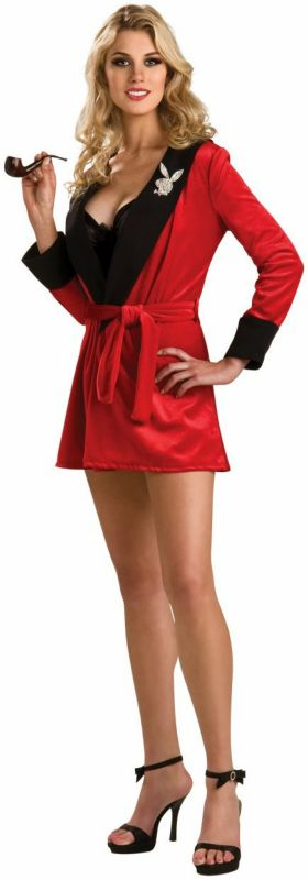 Playboy Ladies (Burgundy) Smoking Jacket Adult Costume,$46.99