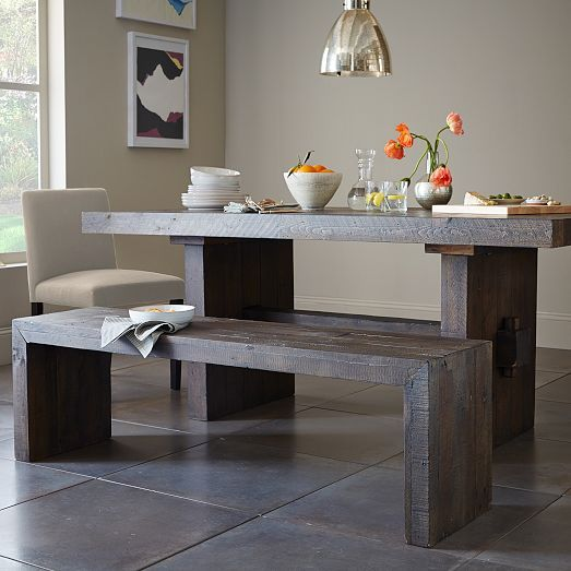 Emmerson Reclaimed Wood Dining Bench | West Elm