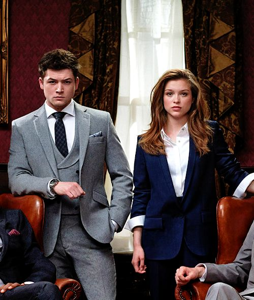 Taron Egerton and Sophie Cookson - Kingsman