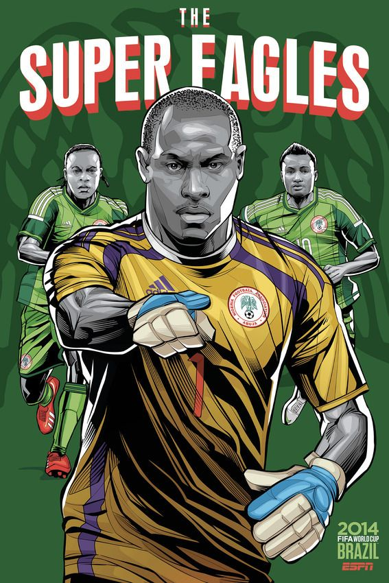 """Nigeria, """"The Super Eagles""""  Nigeria's nickname is rooted in classic one-upmanship. The national team adopted the nickname """"The Super Eagles"""" after losing to Cameroon's """"The Indomitable Lions"""" in the 1988 Africa Cup of Nations finals. 