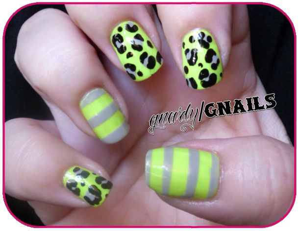 Gnarly Gnails: Monkey See Monkey Do Time! Featuring Chalkboard Nails.Gnarly Gnail, Chalkboards Nails, Chalkboard Nails, Colors, Hair Nails Makeup Ect, Gnarly Nails, Beautiful, Features Chalkboards, Cheetahs Prints