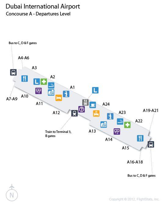 Dxb Dubai Airport Terminal Map Airports Dubai