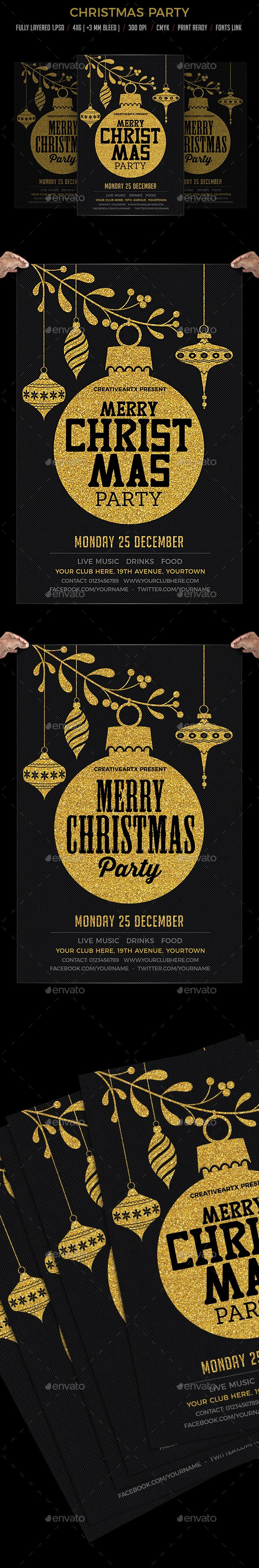 Christmas Party Flyer Invitation The 119 best