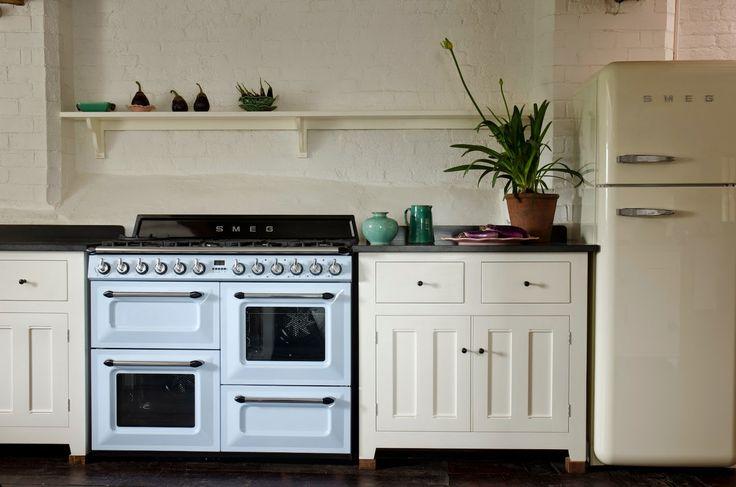 Cream Smeg fridge and deVol kitchen. Modern Country Style: Smeg Fridges Click through for details.