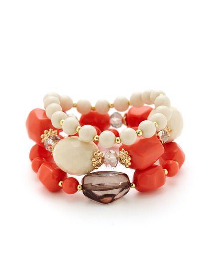 Set of 3 Bead Stretch Bracelets
