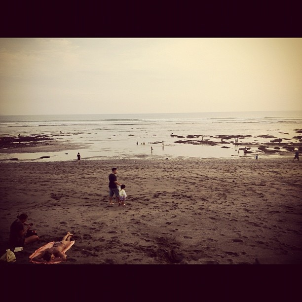 Pantai Batu Bolong in low tide...