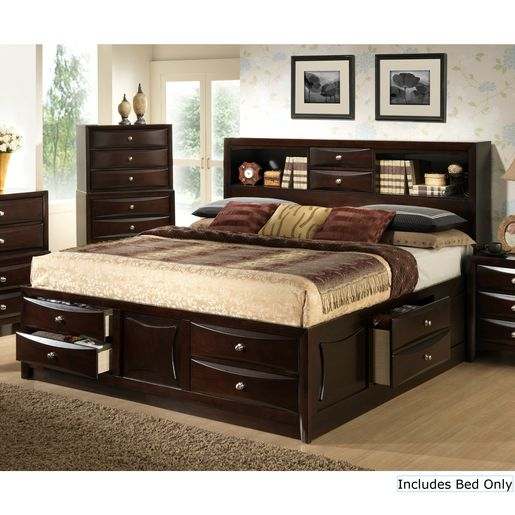 myco furniture oxford queen bed dark espresso bedroom