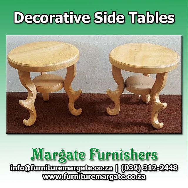 Fill awkward corners or tie any room together with decorative side tables from @Margate Furnishers! #Decor