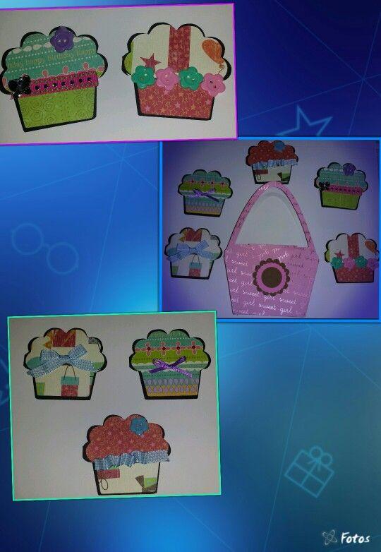 Un dulce cupcake, mini tarjeta de presentación, tarjetas personales