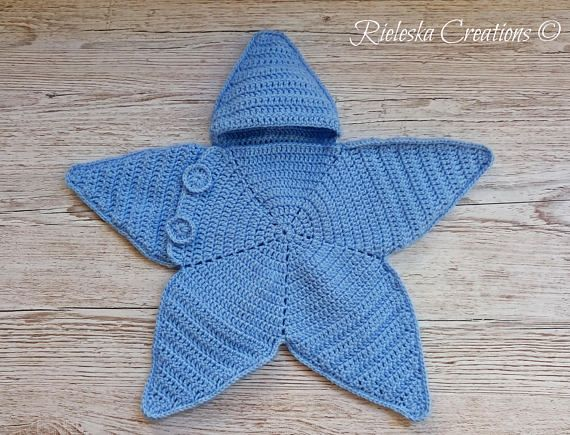 Crochet Pdf Pattern- Star baby bunting- Baby cocoon / 0-3 months Price is for the PATTERN only, not the finished product. Size: 0-3 months There is no shipping charge for this item, as it is a PDF file and will be sent almost direct of payment. If you dont receive it within 24 hours,