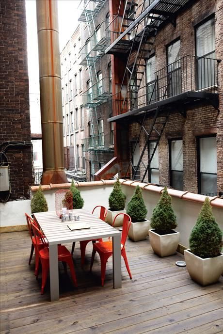 urban patio dining