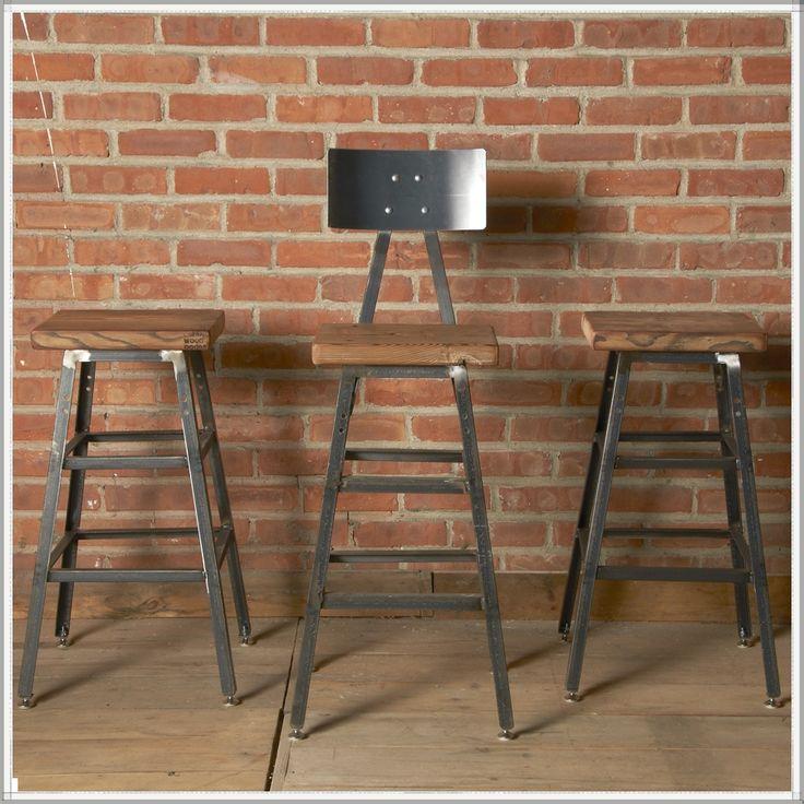 Industrial Barstool   Modern Seating   Reclaimed Wood Furniture