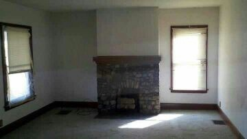 Living room cleaned out