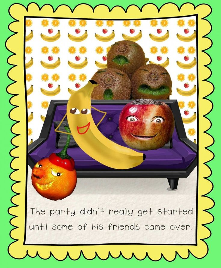 Barry Banana Has A Party - an early reader for quirky kids! Read for free online at Storyberries