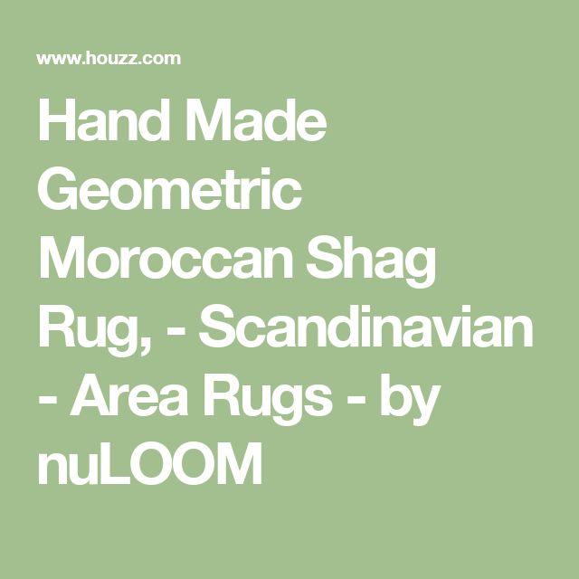 Hand Made Geometric Moroccan Shag Rug, - Scandinavian - Area Rugs - by nuLOOM