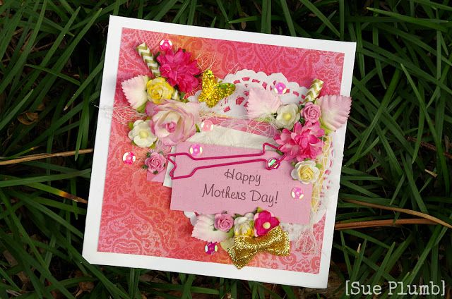 Look into my life Mothers Day card created using Cocoa Vanilla Studio papers and embellishments from D-lish Scraps