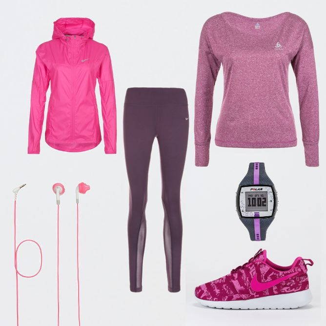 OneOutfitPerDay 2016-02-18 Sportoutfit 2016 - #ootd #outfit #fashion #oneoutfitperday #fashionblogger #fashionbloggerde #frauenoutfit #herbstoutfit - Frauen Outfit Outfit des Tages Sportoutfit Kopfhörer Laufjacke Laufschuhe Laufshirt Nike Odlo Polar Pulsmesser Pulsuhr Roshe One Yurbuds